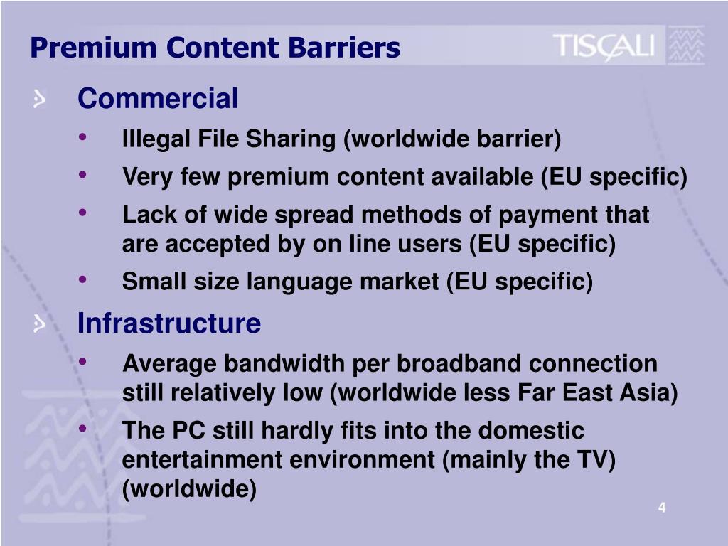 Premium Content Barriers