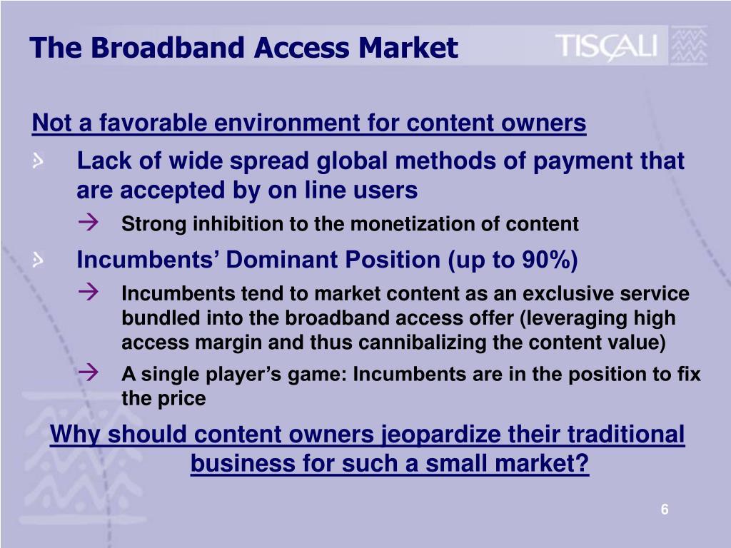 The Broadband Access Market