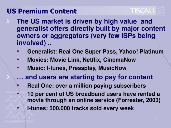 Us premium content