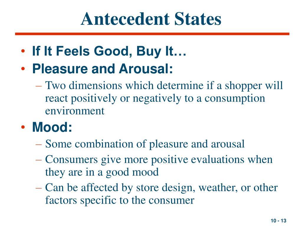 Antecedent States