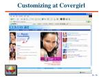 customizing at covergirl