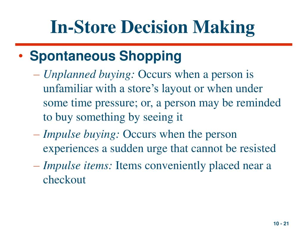 In-Store Decision Making