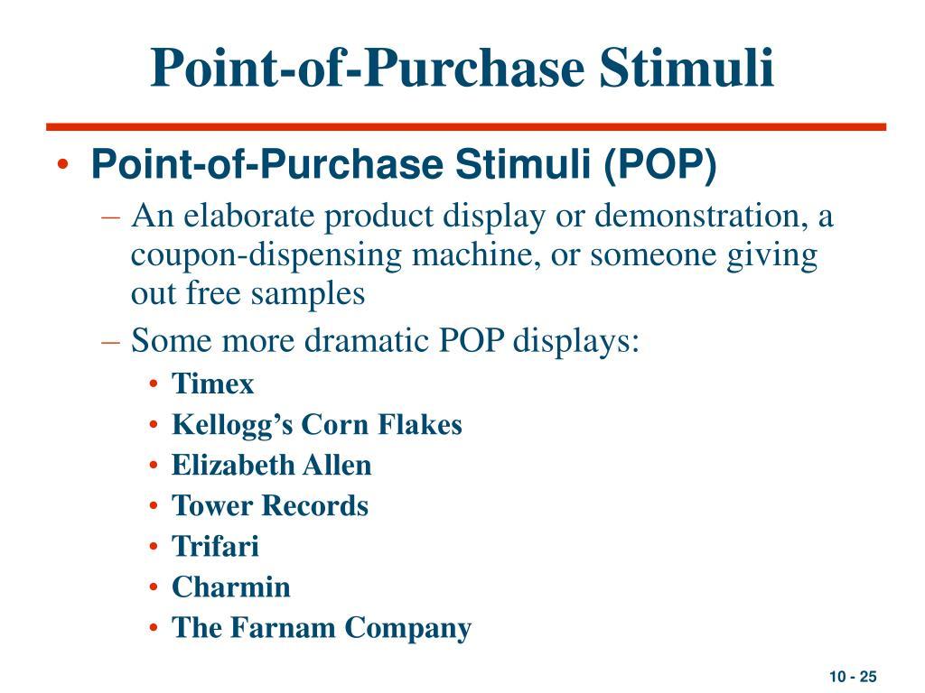 Point-of-Purchase Stimuli