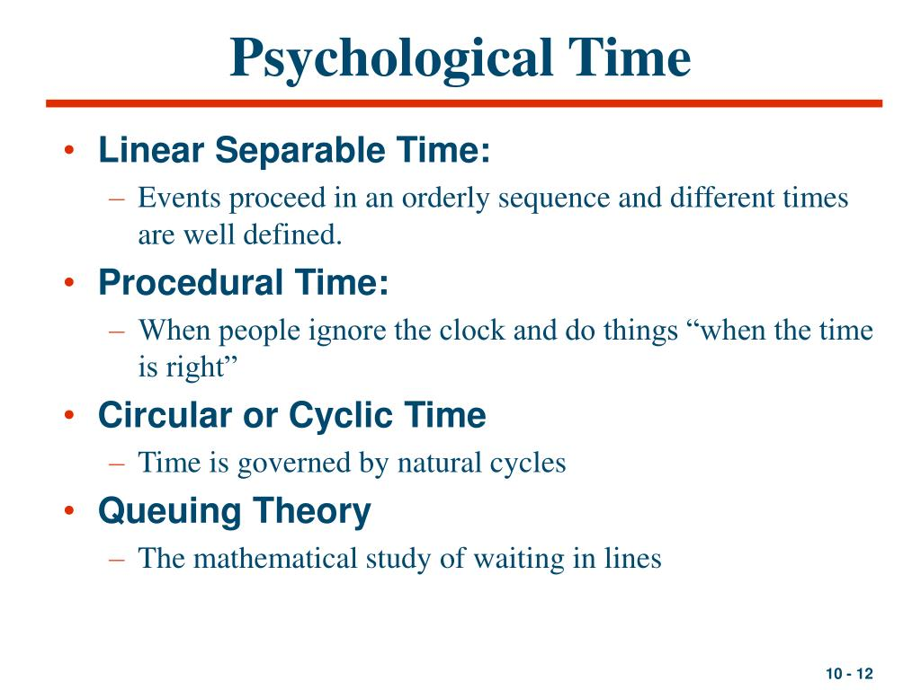 Psychological Time