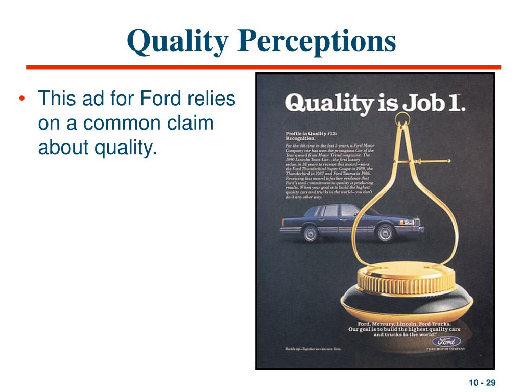 Quality Perceptions