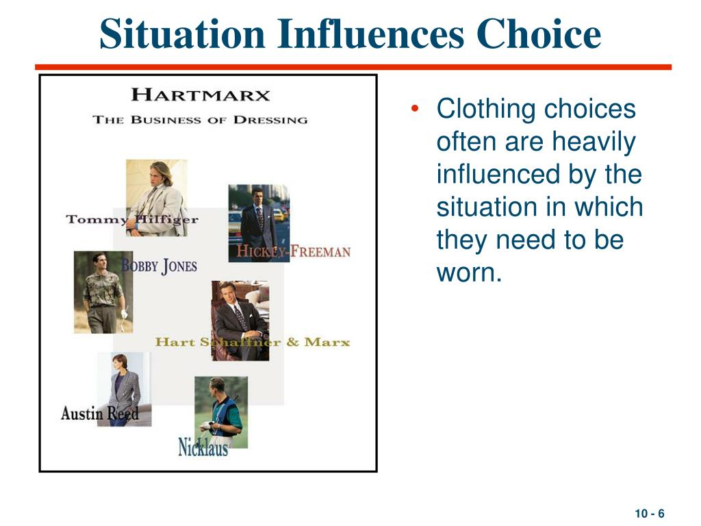 Situation Influences Choice