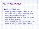 alt programlar
