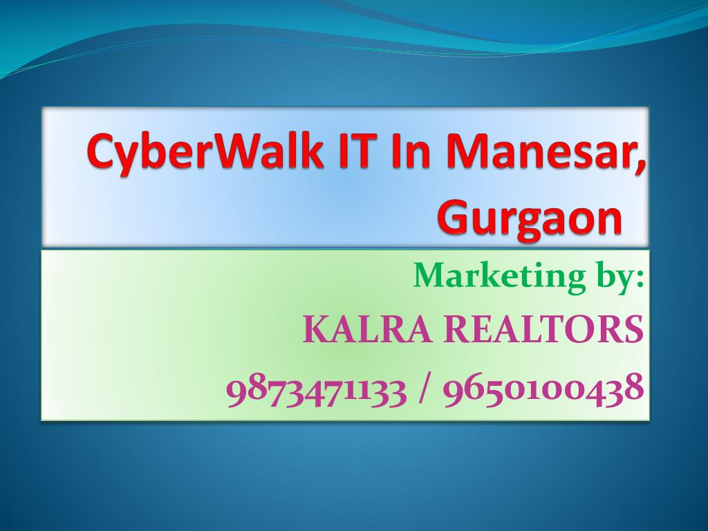cyberwalk it in manesar gurgaon l.