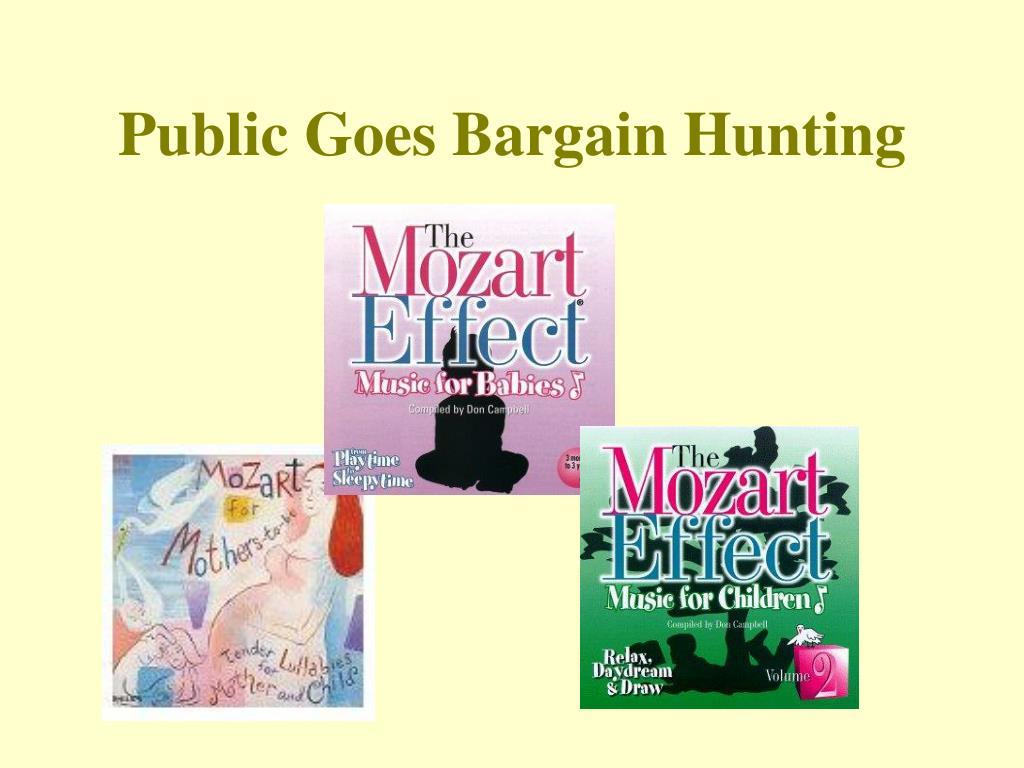Public Goes Bargain Hunting
