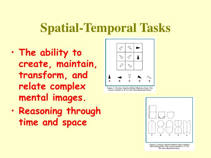 Spatial temporal tasks