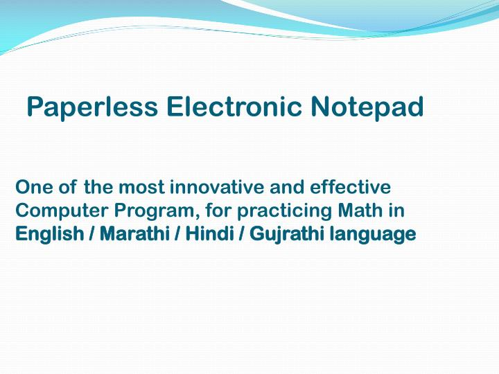 Paperless Electronic Notepad