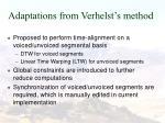 adaptations from verhelst s method