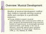 overview musical development