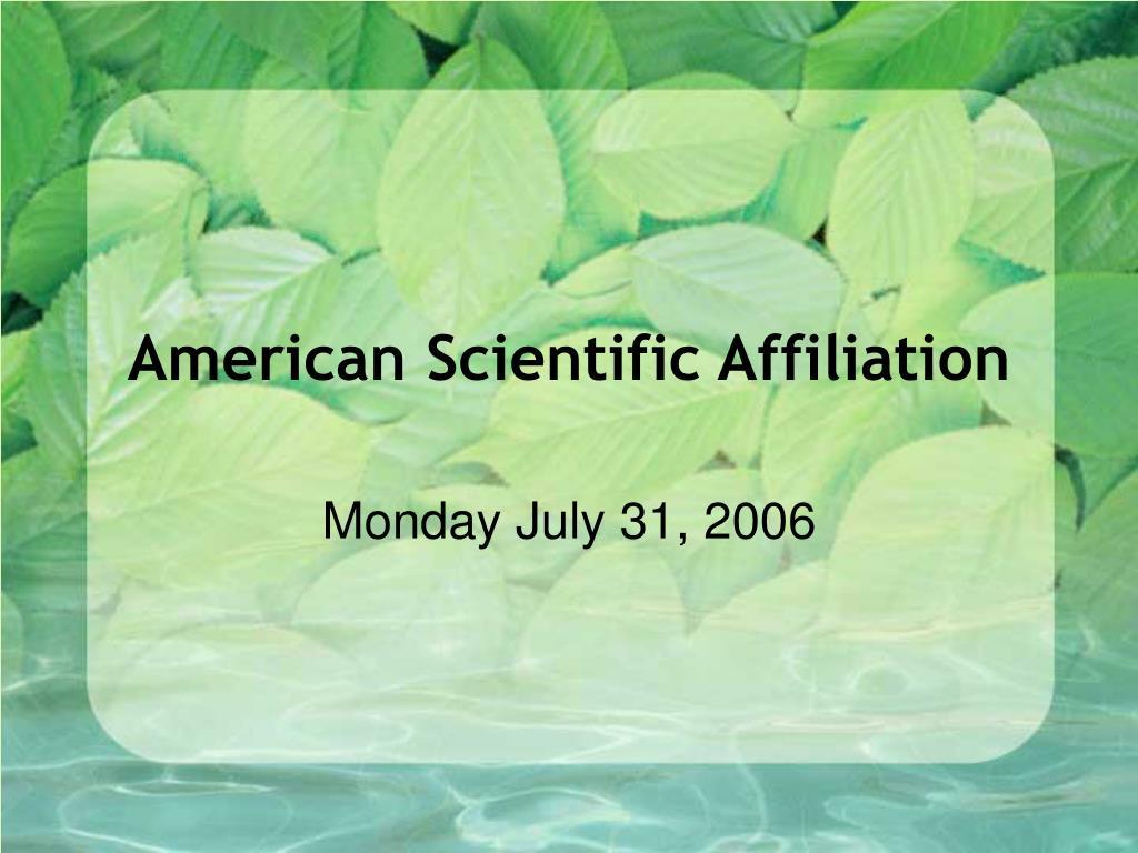american scientific affiliation l.