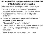 first documented evidence for medication induced shift of absolute pitch perception