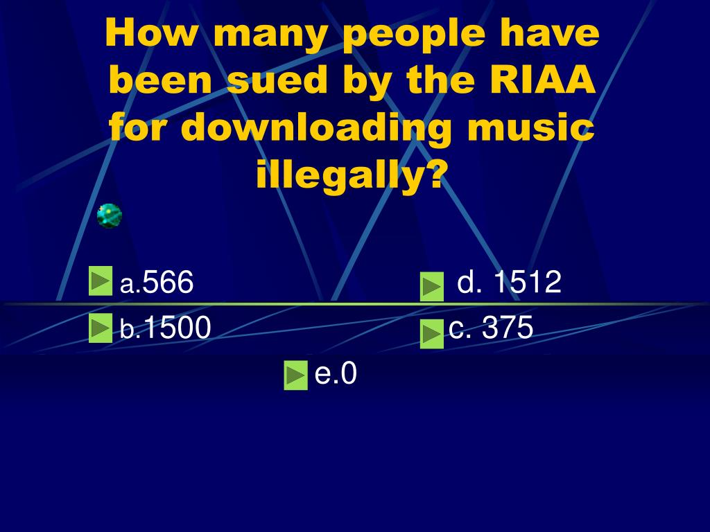 How many people have been sued by the RIAA for downloading music illegally?