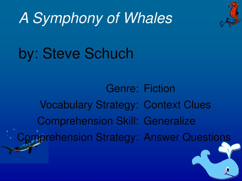 a symphony of whales by steve schuch l.