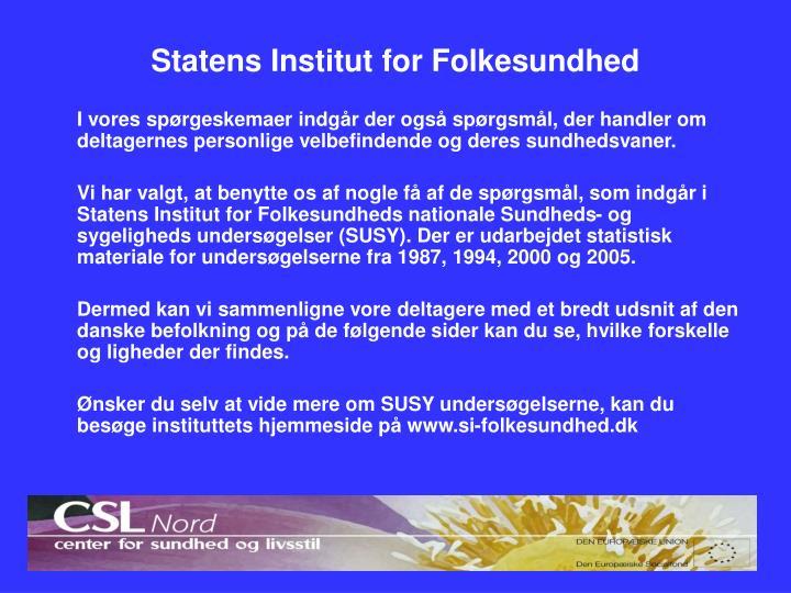 Statens Institut for Folkesundhed