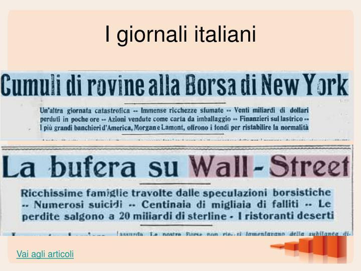 I giornali italiani