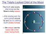 the tidally locked orbit of the moon