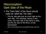 misconception dark side of the moon