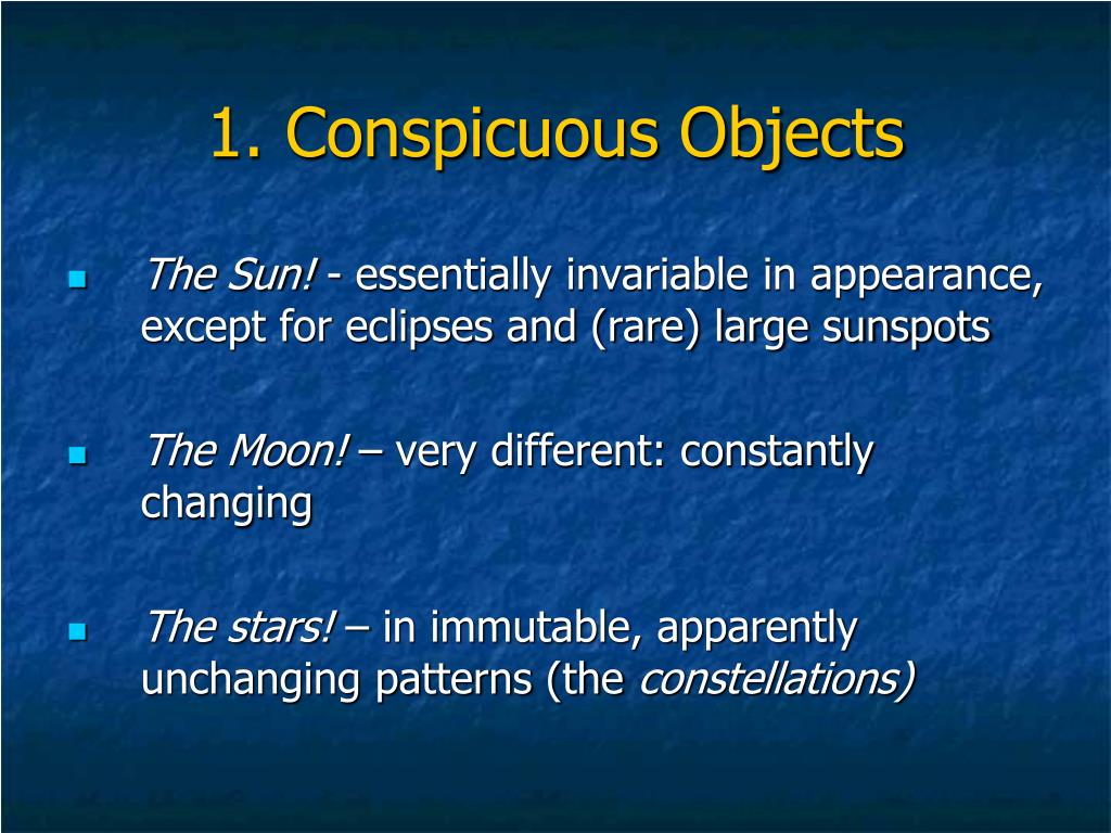 1. Conspicuous Objects