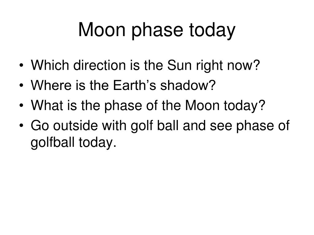 Moon phase today