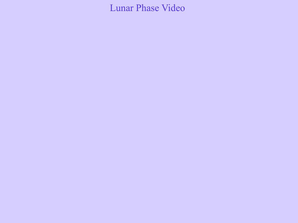 Lunar Phase Video