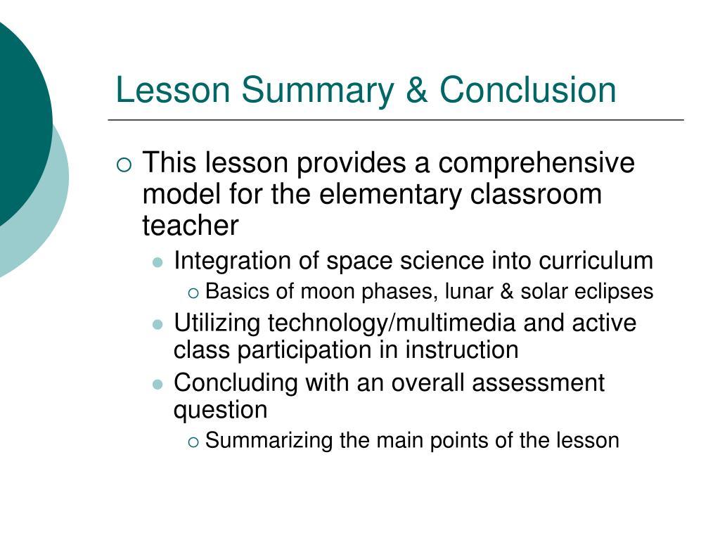 Lesson Summary & Conclusion