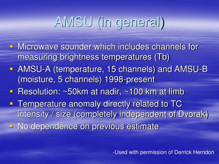 AMSU (in general)