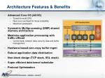 architecture features benefits