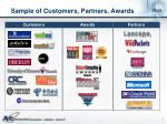 sample of customers partners awards