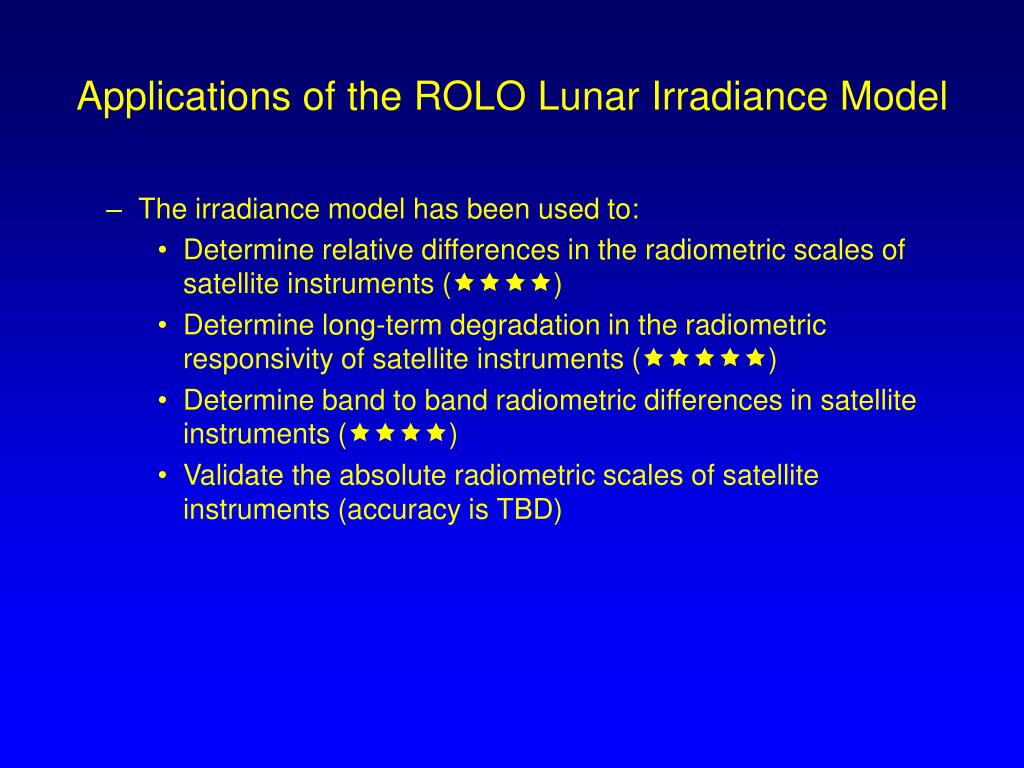 Applications of the ROLO Lunar Irradiance Model
