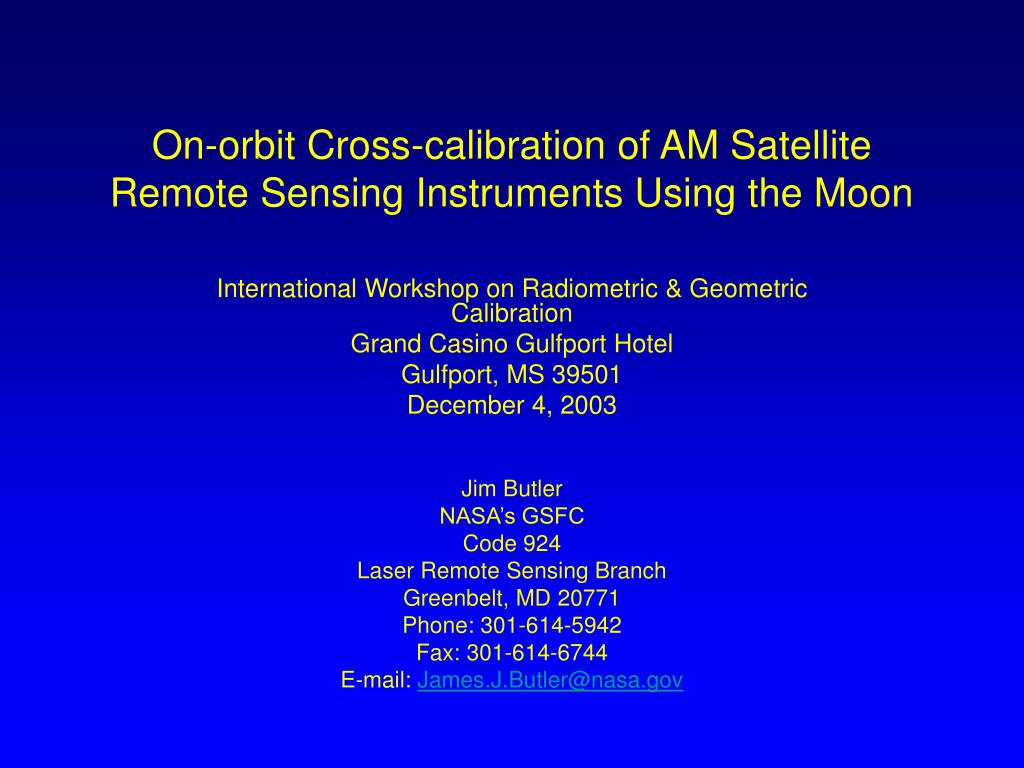 on orbit cross calibration of am satellite remote sensing instruments using the moon l.
