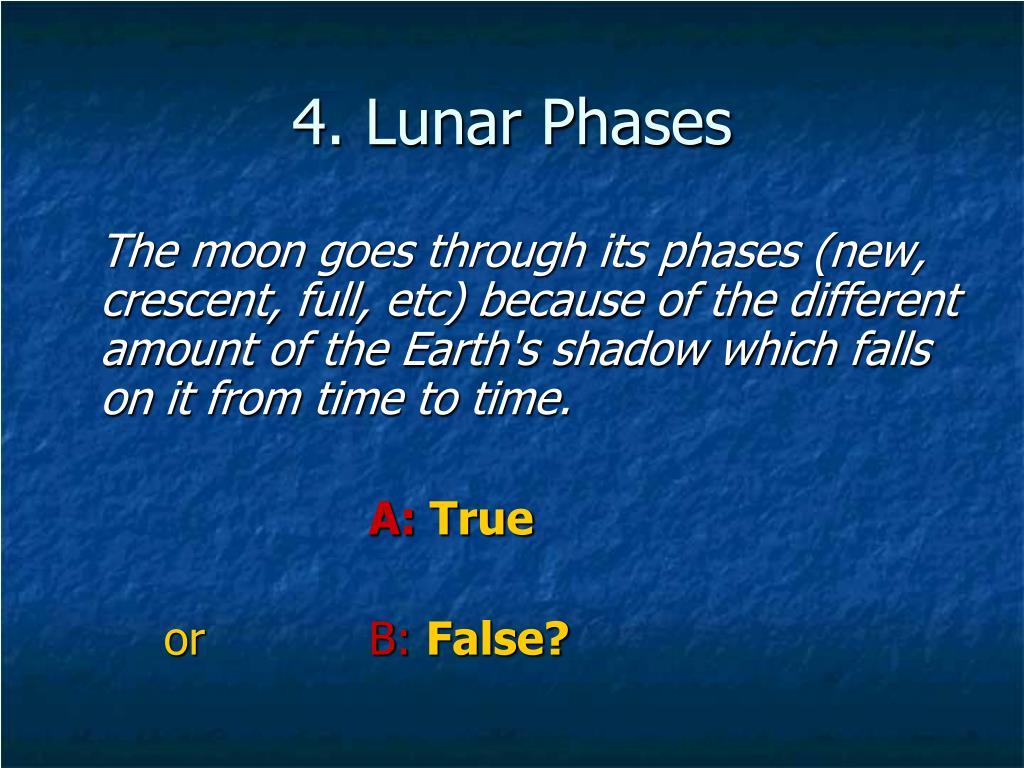 4. Lunar Phases
