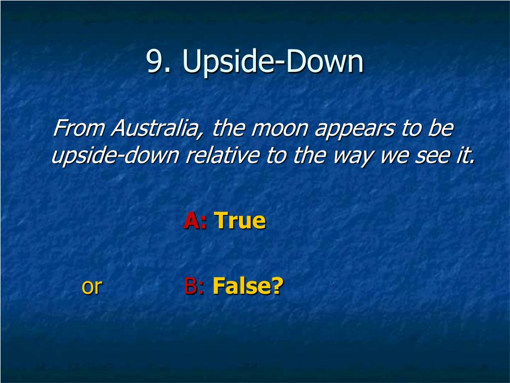 9. Upside-Down