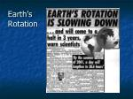 earth s rotation