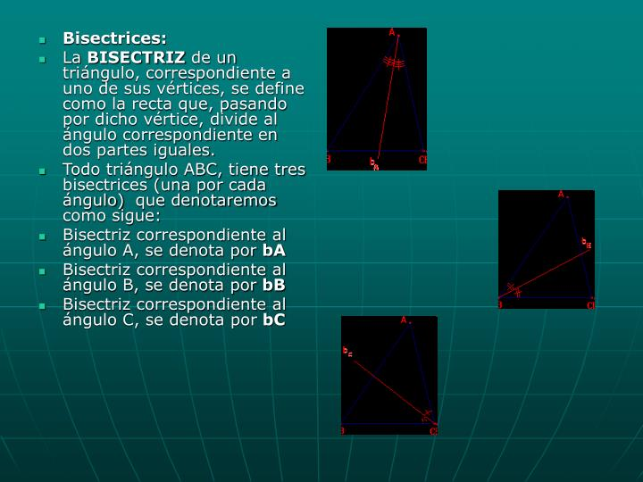Bisectrices: