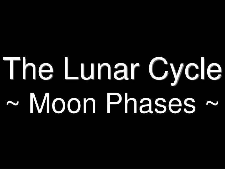 The lunar cycle moon phases