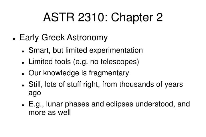 Astr 2310 chapter 22