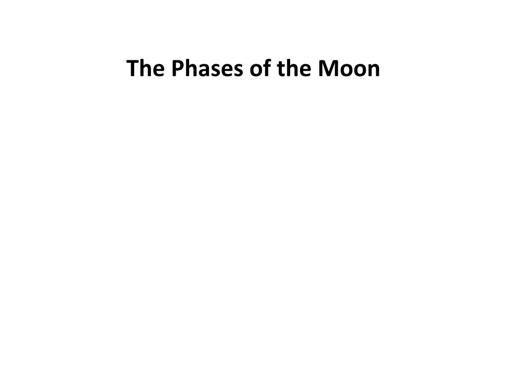 the phases of the moon l.