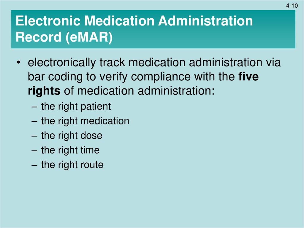 The Impact Of An Electronic Medication Administration Record