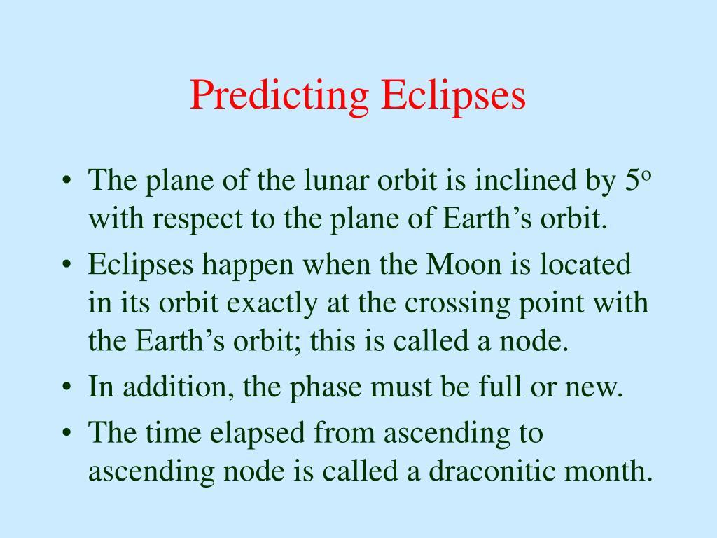 Predicting Eclipses