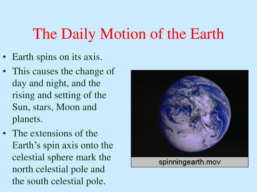 The Daily Motion of the Earth