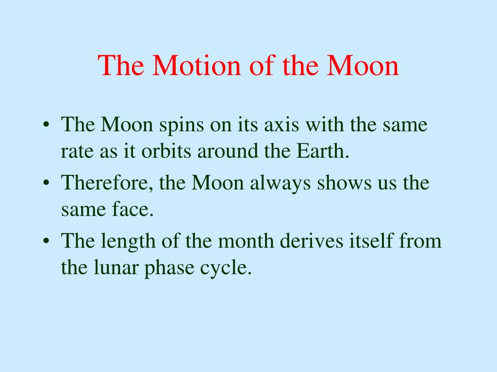 The Motion of the Moon