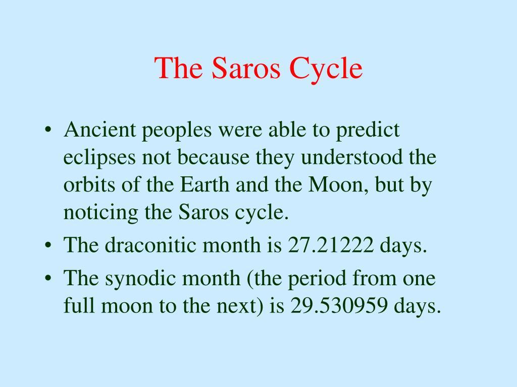 The Saros Cycle
