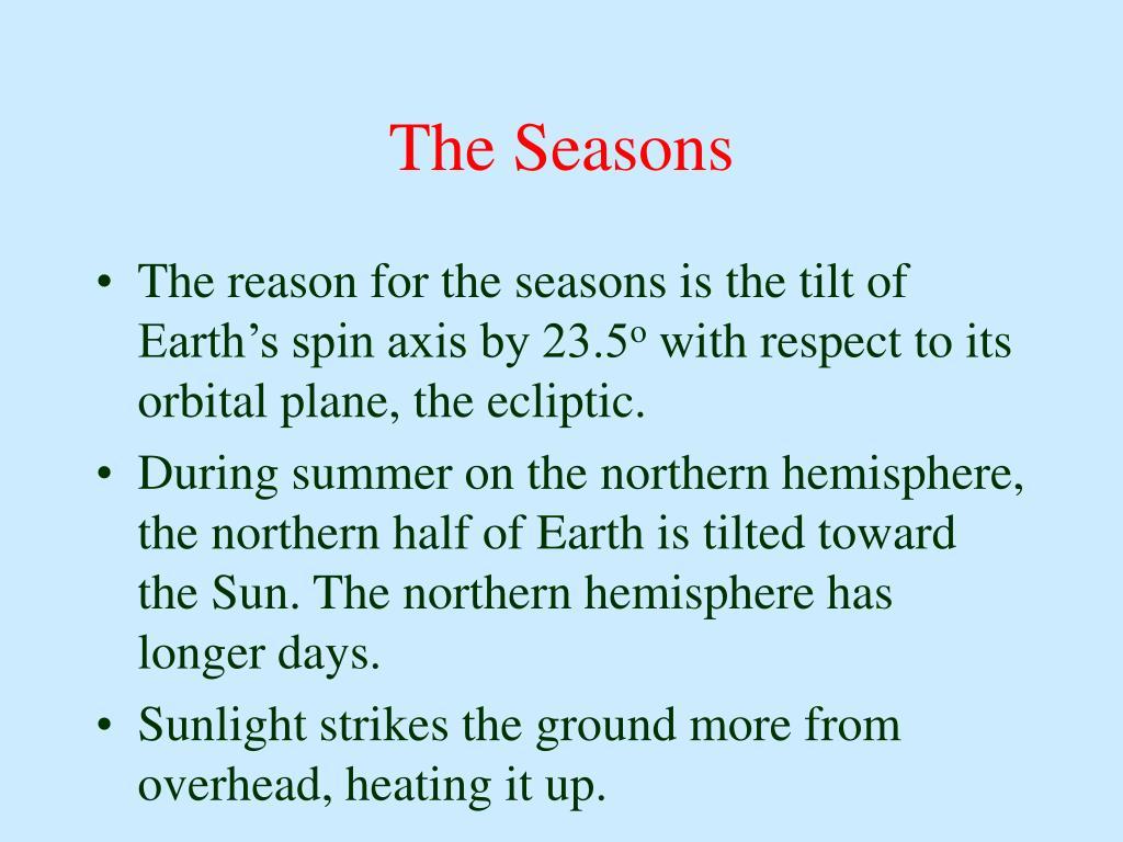 The Seasons