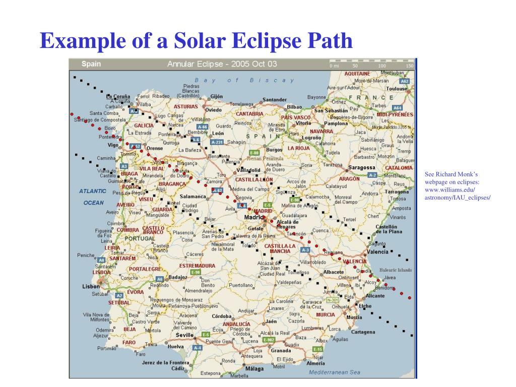 Example of a Solar Eclipse Path