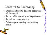 benefits to journaling