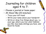 journaling for children ages 4 to 7